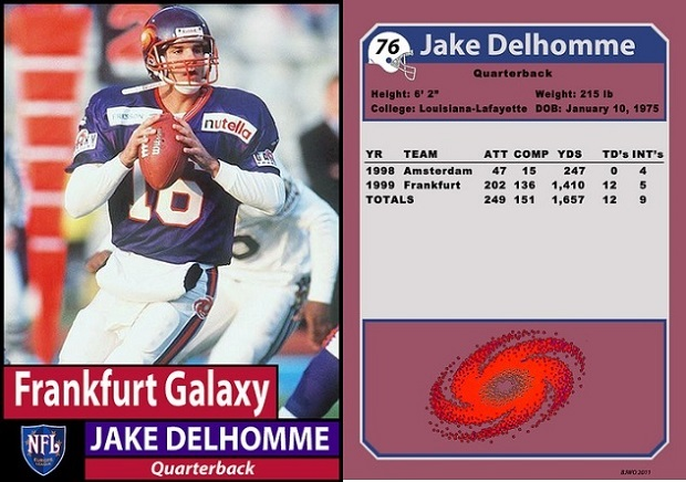 Jake Delhomme with the Frankfurt Galaxy in 1999 (Willie O'Burke/Bill Jones)