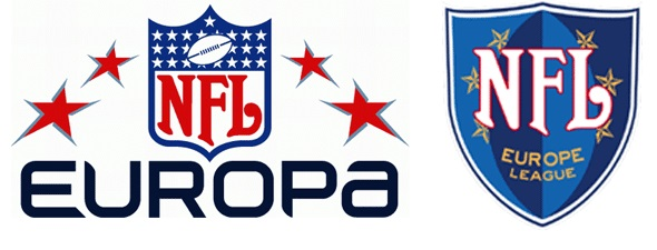 Official logos of NFL Europe/Europa.