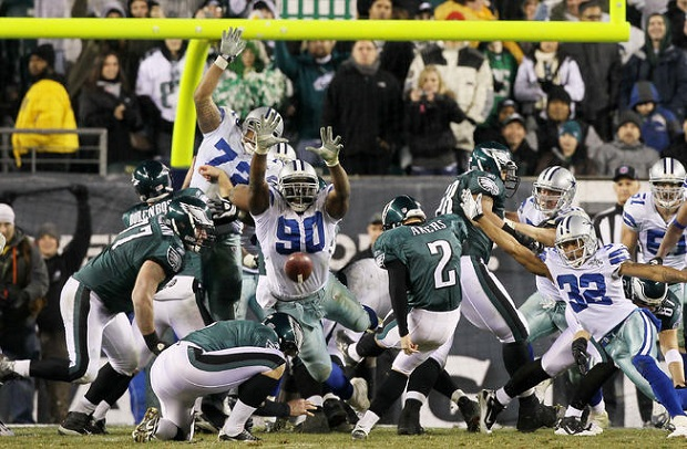 David Akers kicking for the Philadelphia Eagles (Getty Images)