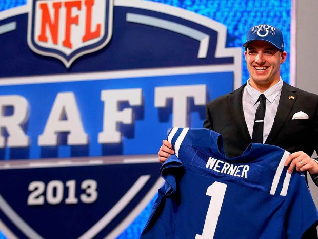 Germany's Björn Werner at the 2013 NFL Draft in New York City (courtesy of AFP)